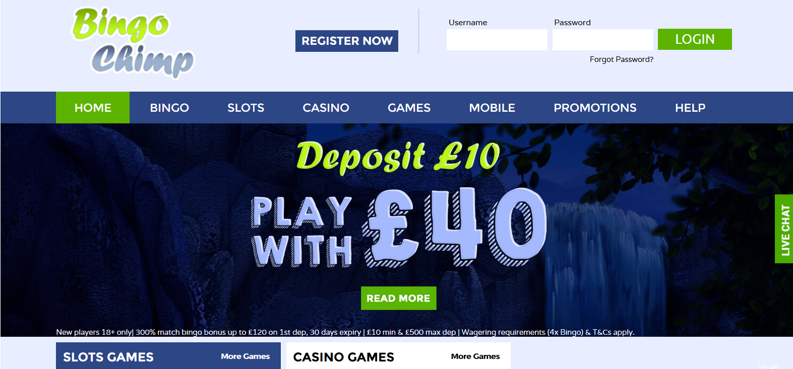 UK Bingo and Casino Games - Bingo Chimp