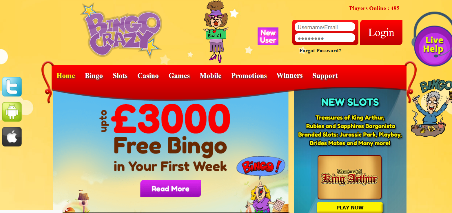 UK Bingo and Casino Games - Bingo Crazy