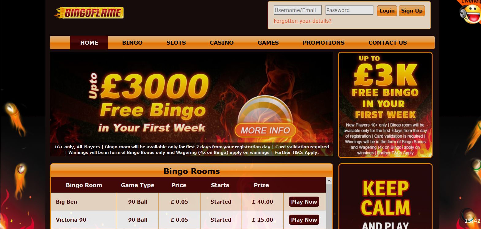 UK Bingo and Casino Games - Bingo Flame