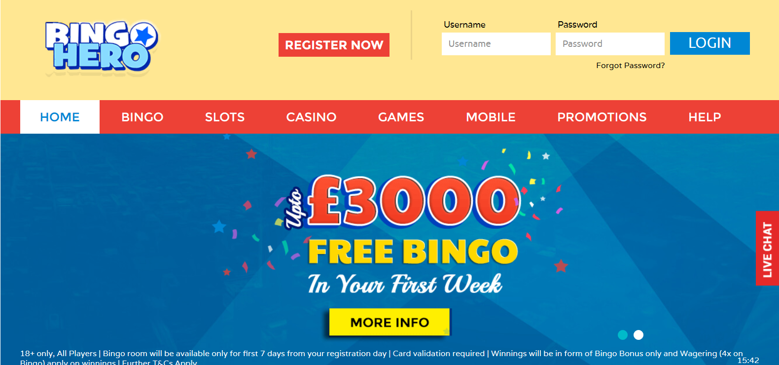 UK Bingo and Casino Games - Bingo Hero