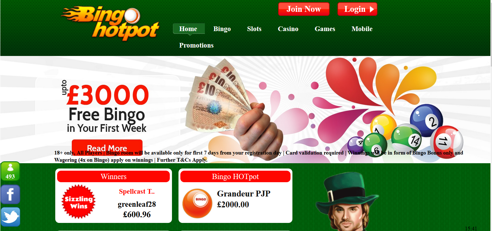 UK Bingo and Casino Games - Bingo Hotpot