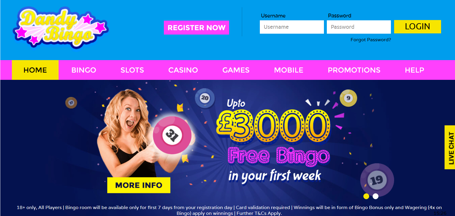 UK Bingo and Casino Games - Dandy Bingo