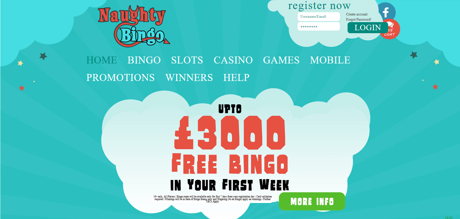 UK Bingo and Casino Games - Naughty Bingo