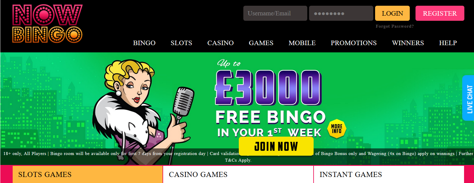 UK Bingo and Casino Games - Now Bingo