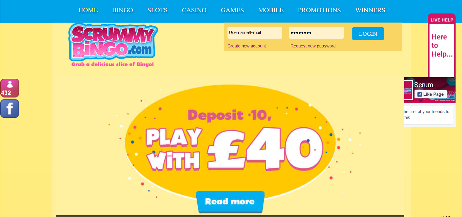 UK Bingo and Casino Games - Scrummy Bingo