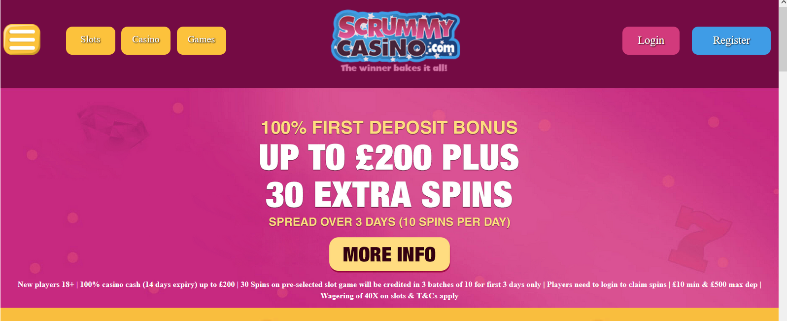 UK Bingo and Casino Games - Scrummy Casino