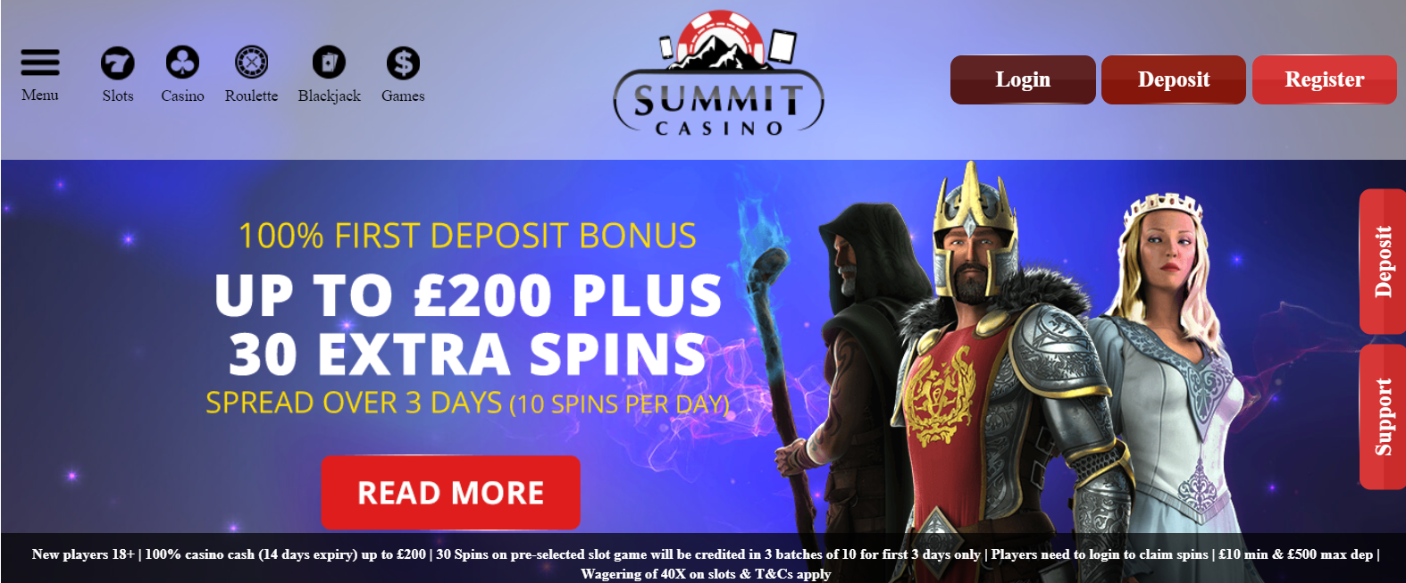 UK Bingo and Casino Games - Summit Casino