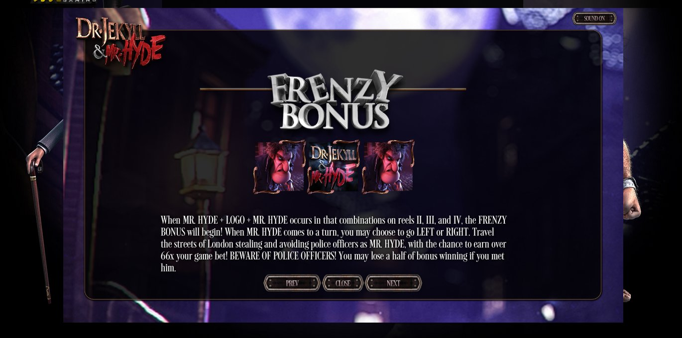 Dr Jekyll and Mr Hyde - Frenzy Bonus